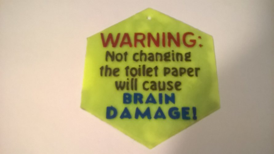 Change The Toilet Paper sign 3D Print 39549