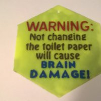 Small Change The Toilet Paper sign 3D Printing 39549