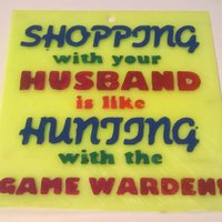 Small Shopping With Game Warden Sign 3D Printing 39553