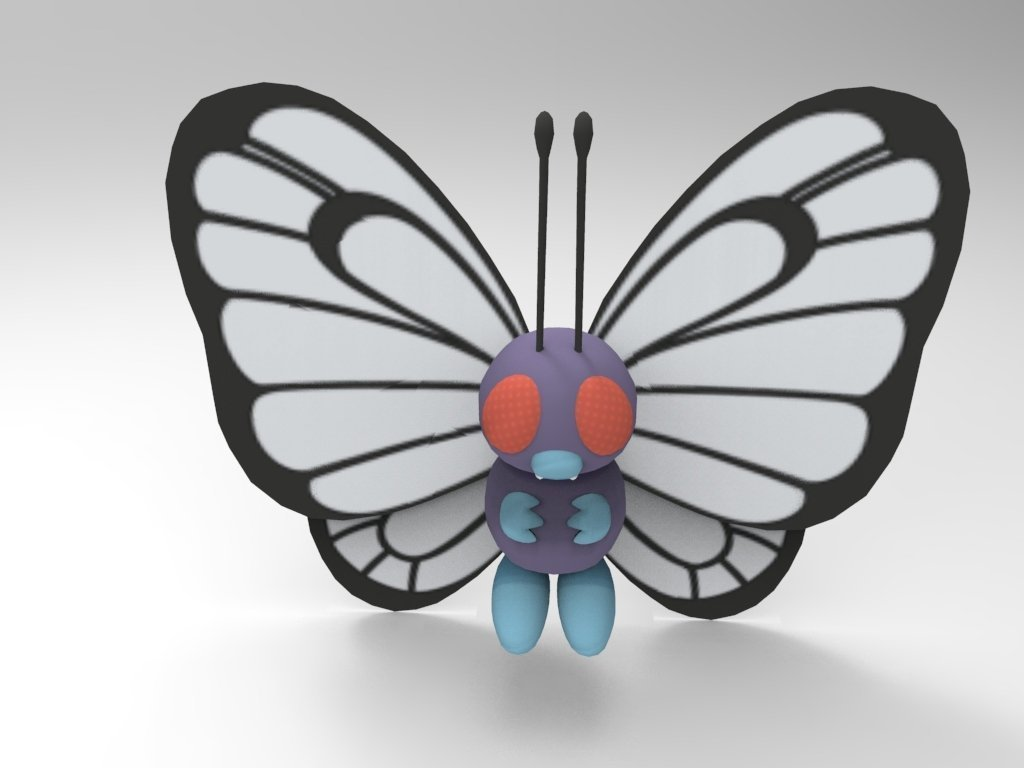 3d printed butterfree by 董彬文 pinshape