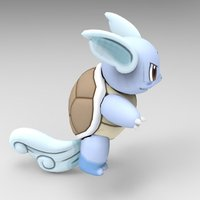 Small Wartortle 3D Printing 39586