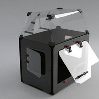 Small makerbot replicator2 Dust-proof enclosure 3D Printing 39624