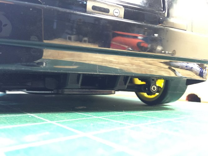 Sakura D3 Rear Sub Bumper (Short Back Body) 3D Print 39640