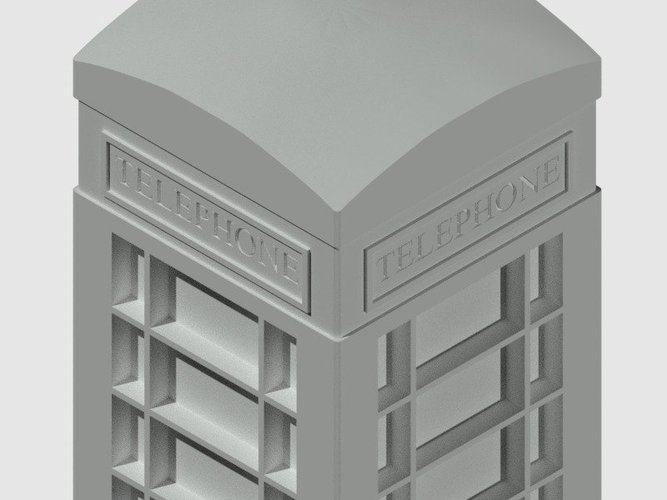 London Phone Booth 3D Print 39671