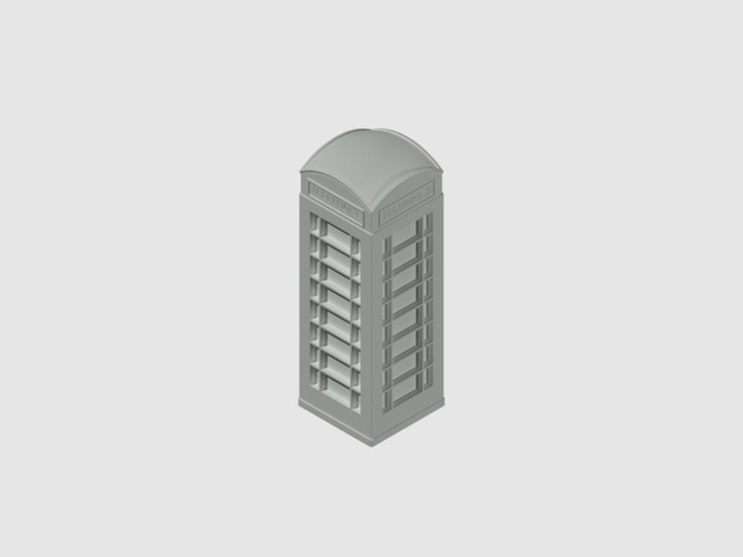 London Phone Booth 3D Print 39672