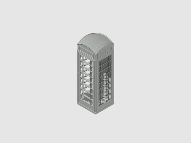 London Phone Booth 3D Print 39674