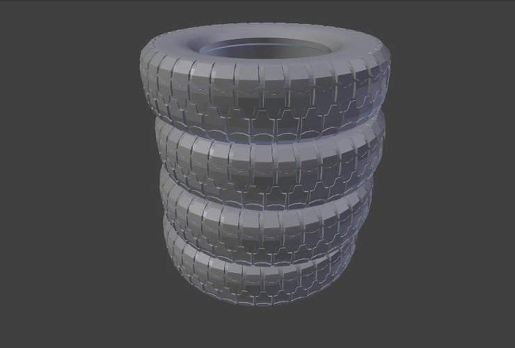 Stack of Truck Tires 3D Print 39870