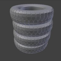 Small Stack of Truck Tires 3D Printing 39870