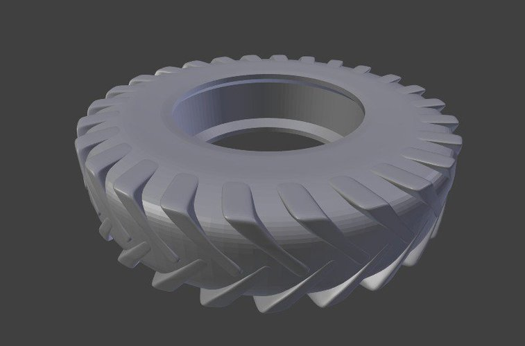 Worn Out Tractor Tire 3D Print 39871