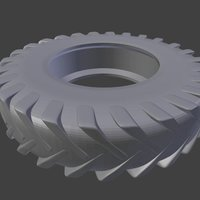 Small Worn Out Tractor Tire 3D Printing 39871