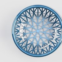 Small patterned basket 3D Printing 39939