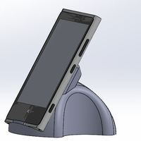 Small nokia 920 wireless stand 3D Printing 40048