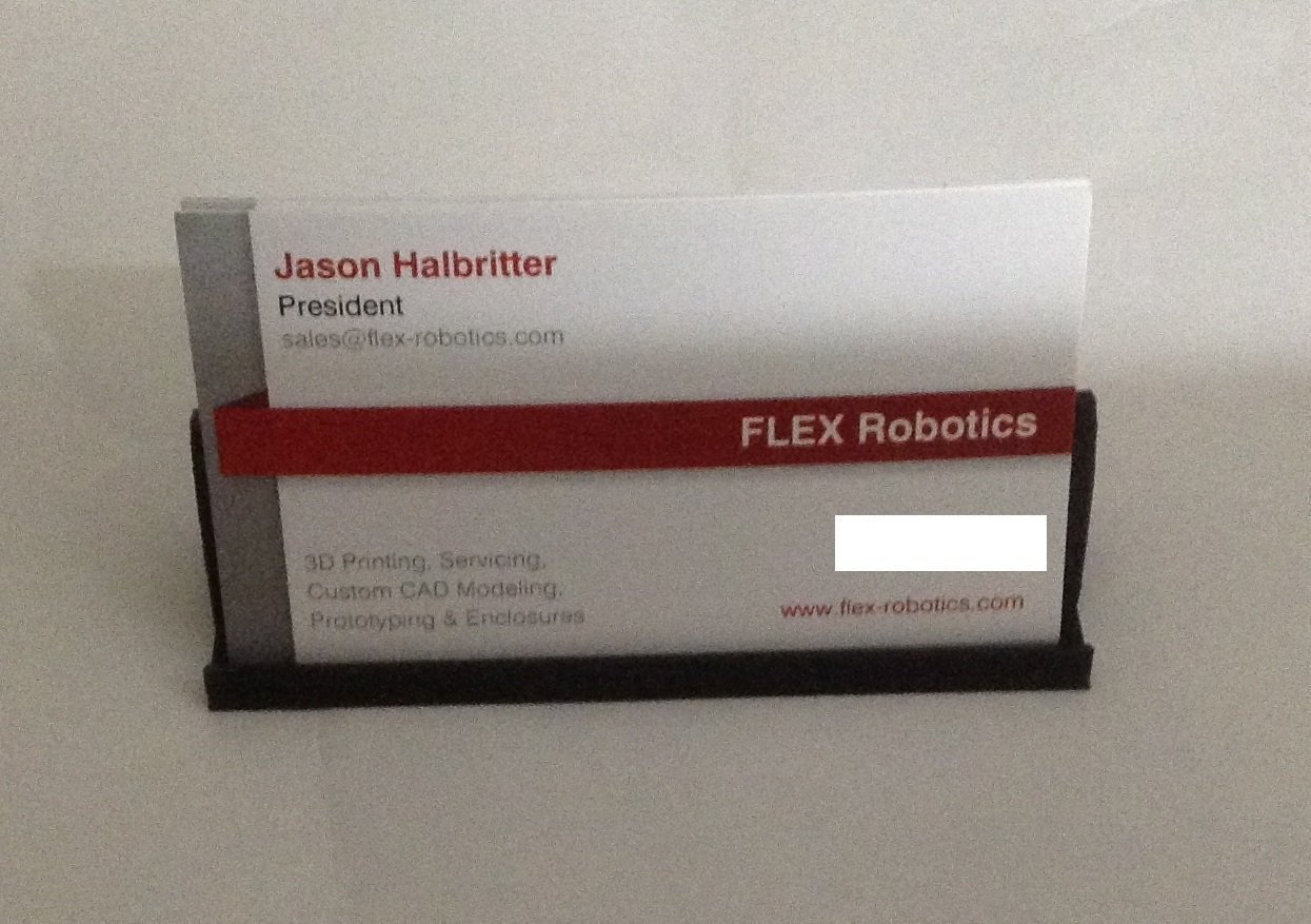 3D Printed Simple business card stand by Jason Halbritter | Pinshape