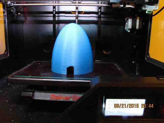1X1 Conical Spinner and Backplate 3D Print 40140
