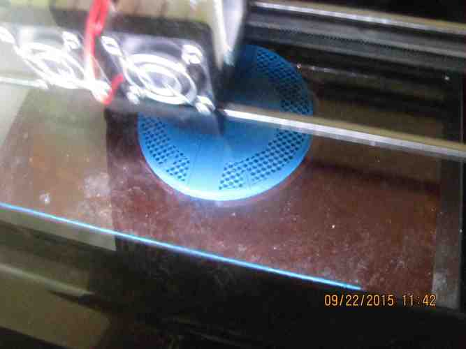 1X1 Conical Spinner and Backplate 3D Print 40141