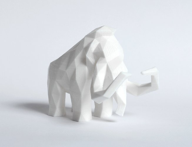 Low Poly Mammoth 3D Print 40142