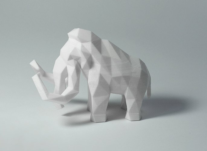 Low Poly Mammoth 3D Print 40143