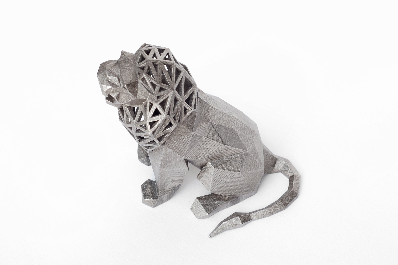3d printed roaring lion by formbyte pinshape
