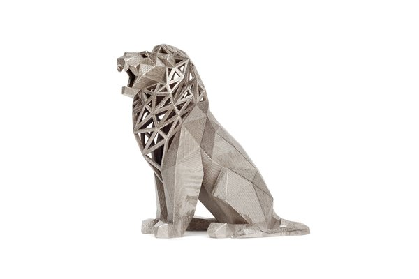 Medium Roaring Lion 3D Printing 40149