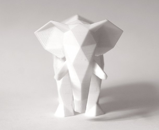 Low Poly Elephant Art Sculpture 3D Print 40154