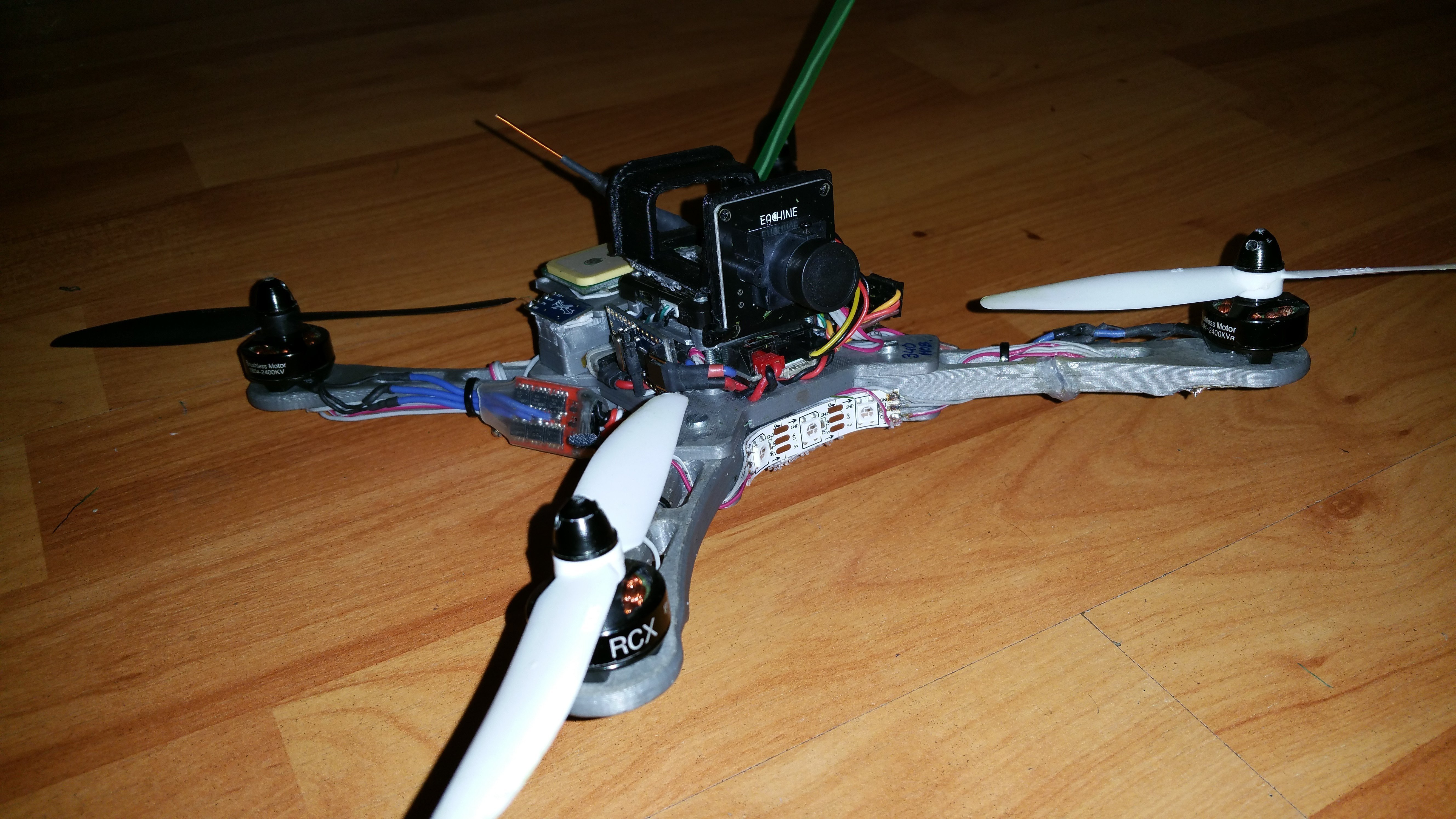 3D Printed FPV Racing Quad- / Hexa- / TriCopter frame by Bitwise ...