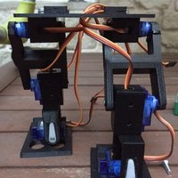 Small Robot bipedo con 6 servos 9g   //Biped robot with 6 9G servos 3D Printing 40185