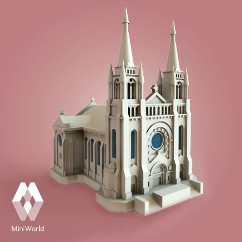 Sioux Falls Cathedral, South Dakota 3D Print 40269