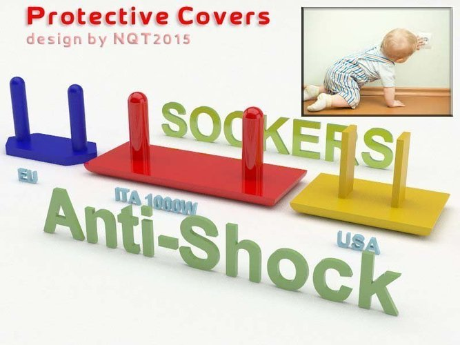 Anti Shock / Protective Socker for kids by NQT2015 3D Print 40359