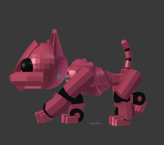 Articulated Robot Kitty 3D Print 40395