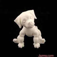 Small 3d Jointed Puppy Dog 3D Printing 40440