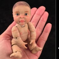 Small 3D Jointed Articulated Baby 3D Printing 40456
