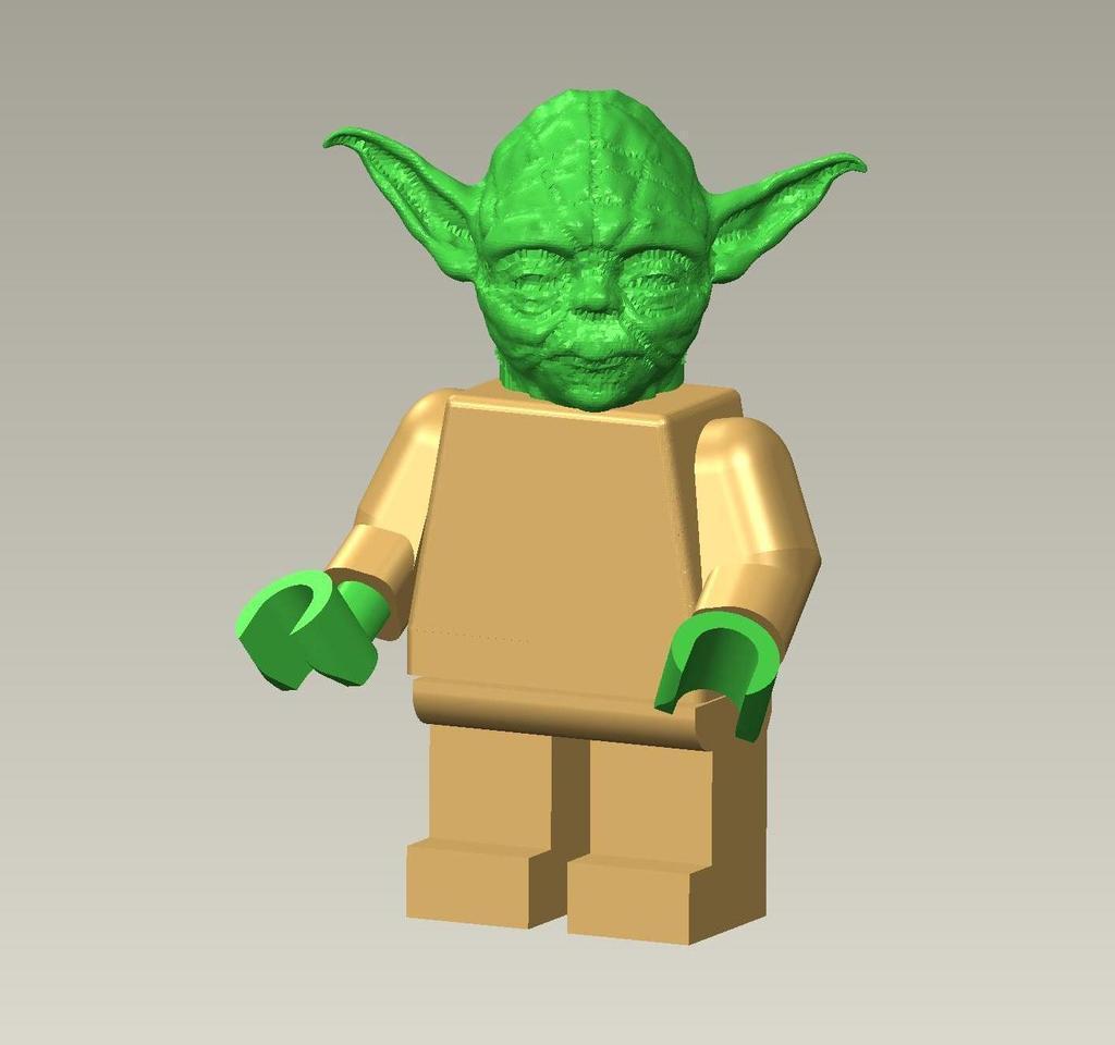 3d printed giant lego yoda by matthew kirby pinshape - Lego Yoda