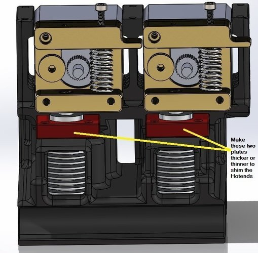 Davinci 2.0 double MK8 extruder and E3D hot end carriage 3D Print 40582