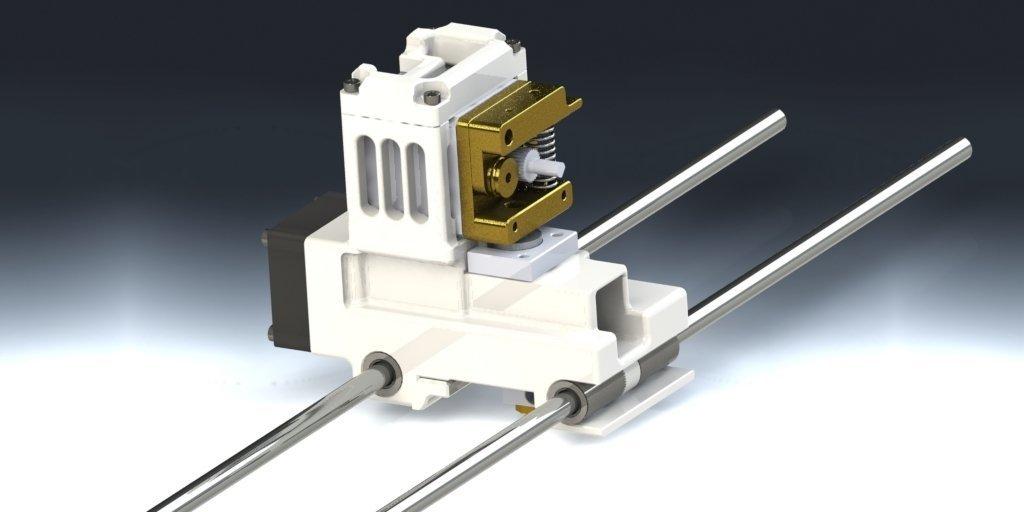 Da Vinci 1 3D Printer - E3D Hotend with MK8 Extruder ver 1 @ Pinshape