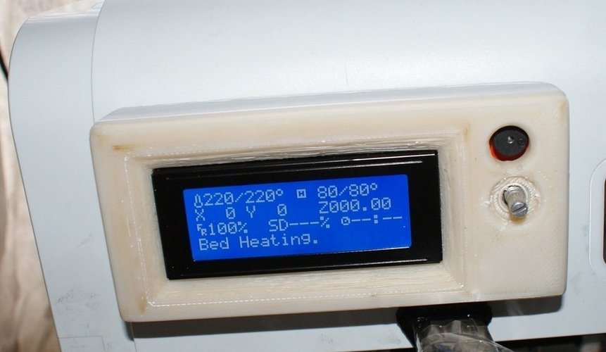 Housing and cover for a Ramps 1.4 smart controller LCD with SD c 3D Print 40599