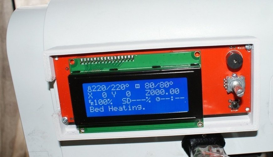 Housing and cover for a Ramps 1.4 smart controller LCD with SD c 3D Print 40600