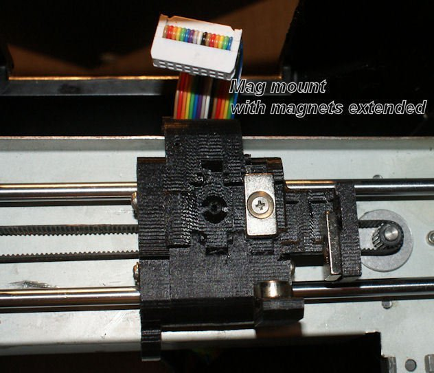 3D Printed UP Mini parts for entire extruder replacement with an