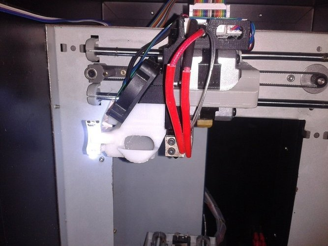 UP Mini Extruder stepper platform and wind barrier modded for be 3D Print 40642