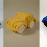 Small ModWheels Modular Toy Car Set 1 3D Printing 4075