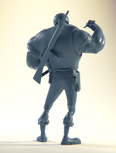 The Ticketeer Figurine 3D Print 4083
