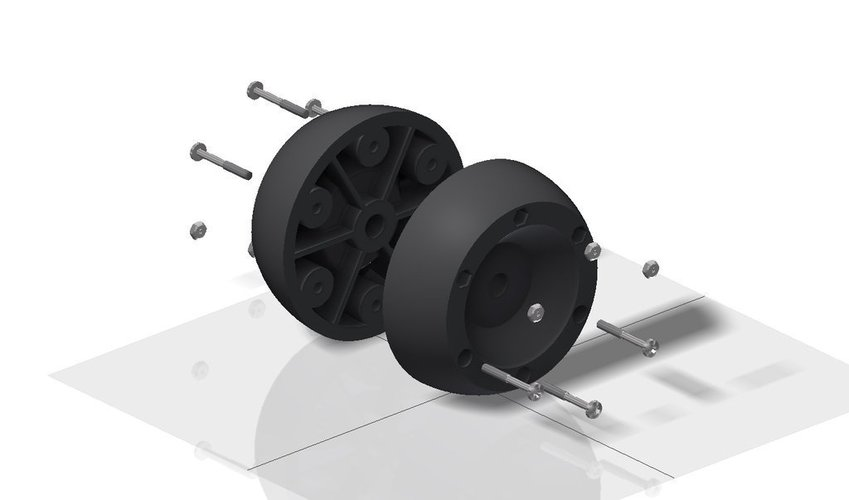 Replacement wheel for Bosch Indego lawn mover 3D Print 40832