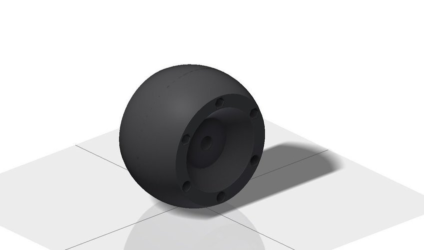 Replacement wheel for Bosch Indego lawn mover 3D Print 40833