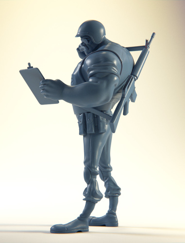 The Ticketeer Figurine 3D Print 4085