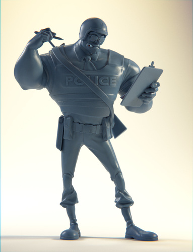 The Ticketeer Figurine 3D Print 4086
