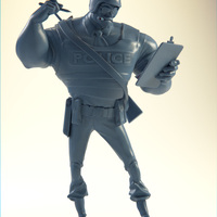 Small The Ticketeer Figurine 3D Printing 4086