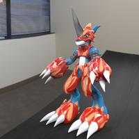 Small FlameDramon New Edition  3D Printing 40942
