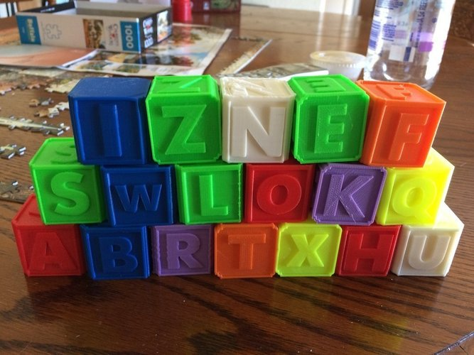 Alphabet Blocks 3D Print 40995