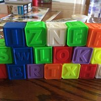 Small Alphabet Blocks 3D Printing 40995