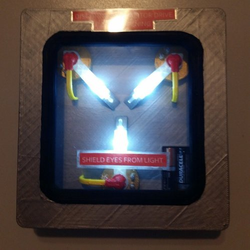 Flux Capacitor with LEDs 3D Print 41005