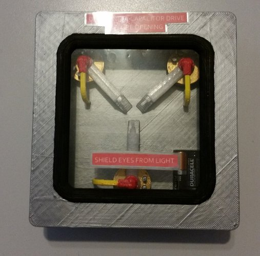Flux Capacitor with LEDs 3D Print 41007